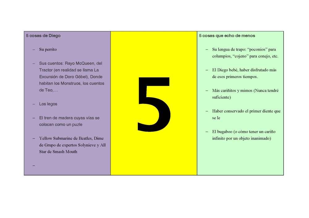 5 cosas (2/2)